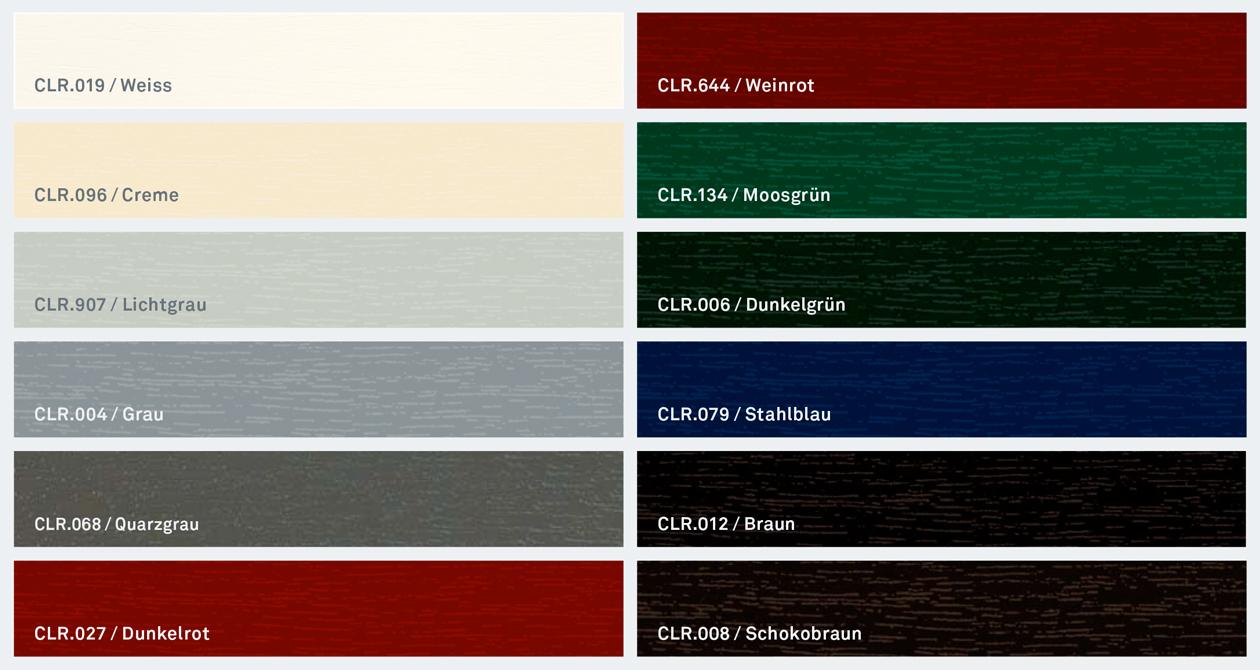 Barvy dekorů - oken